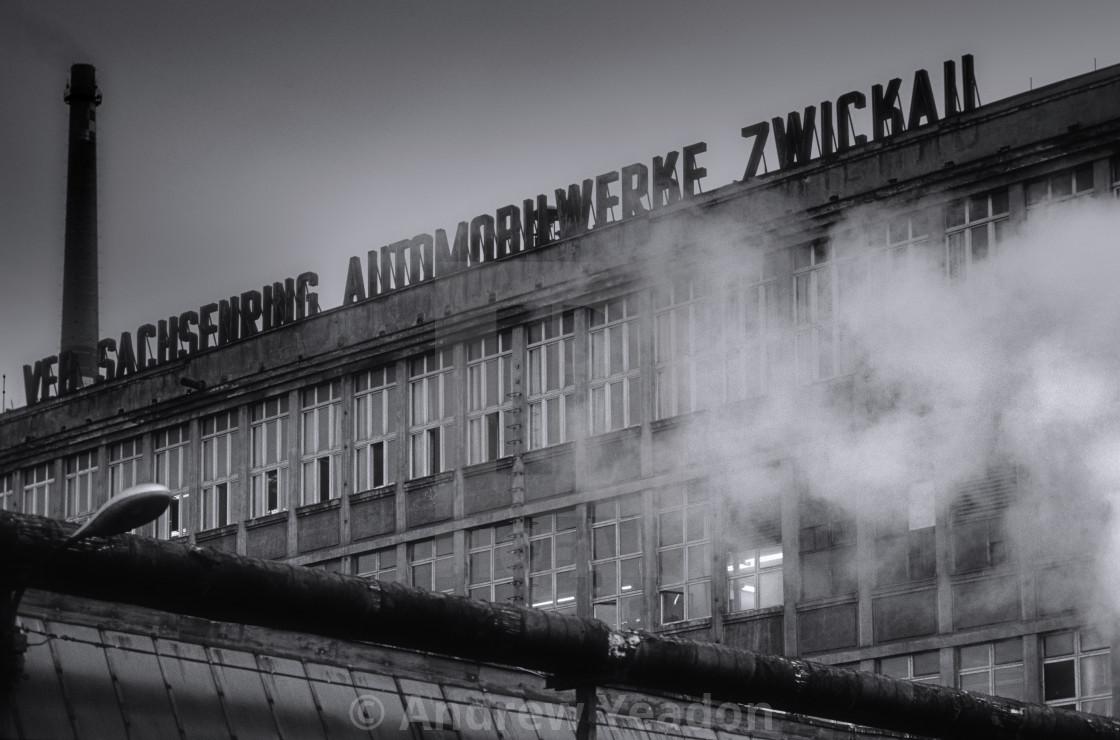 """Trabant Sachsenring Autowerke Factory"" stock image"