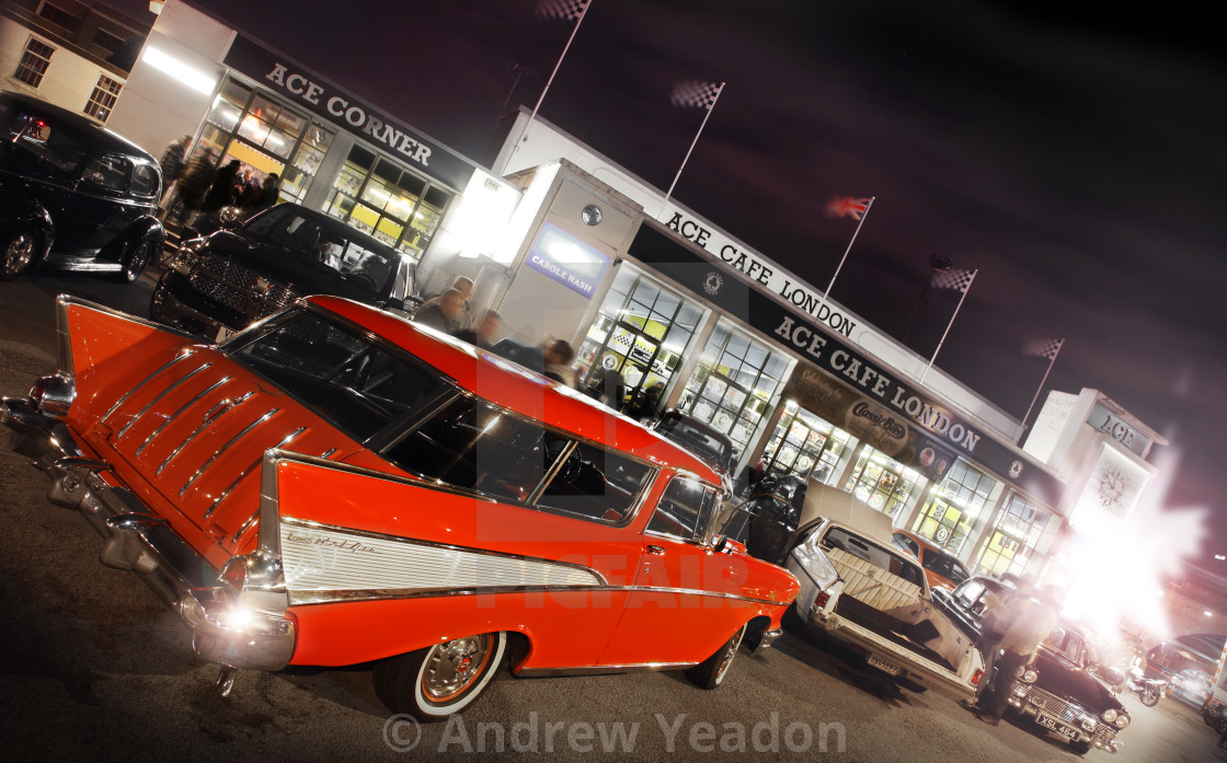 """Chevrolet Nomad At The Ace Cafe, London, UK"" stock image"