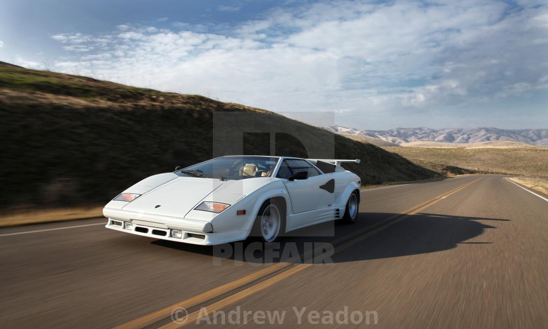 """""""Lamborghini Countach 5000S QV 1987"""" stock image"""