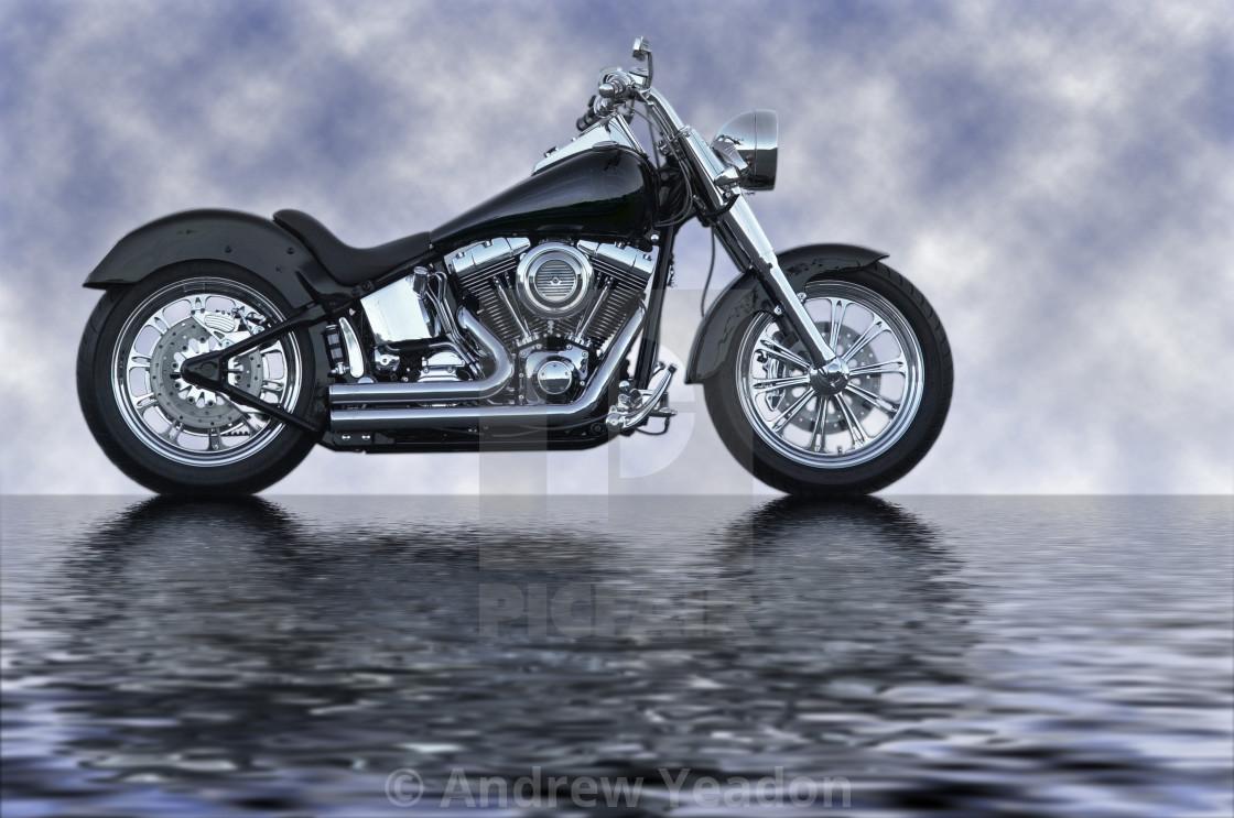 """Harley Davidson Motorbike"" stock image"