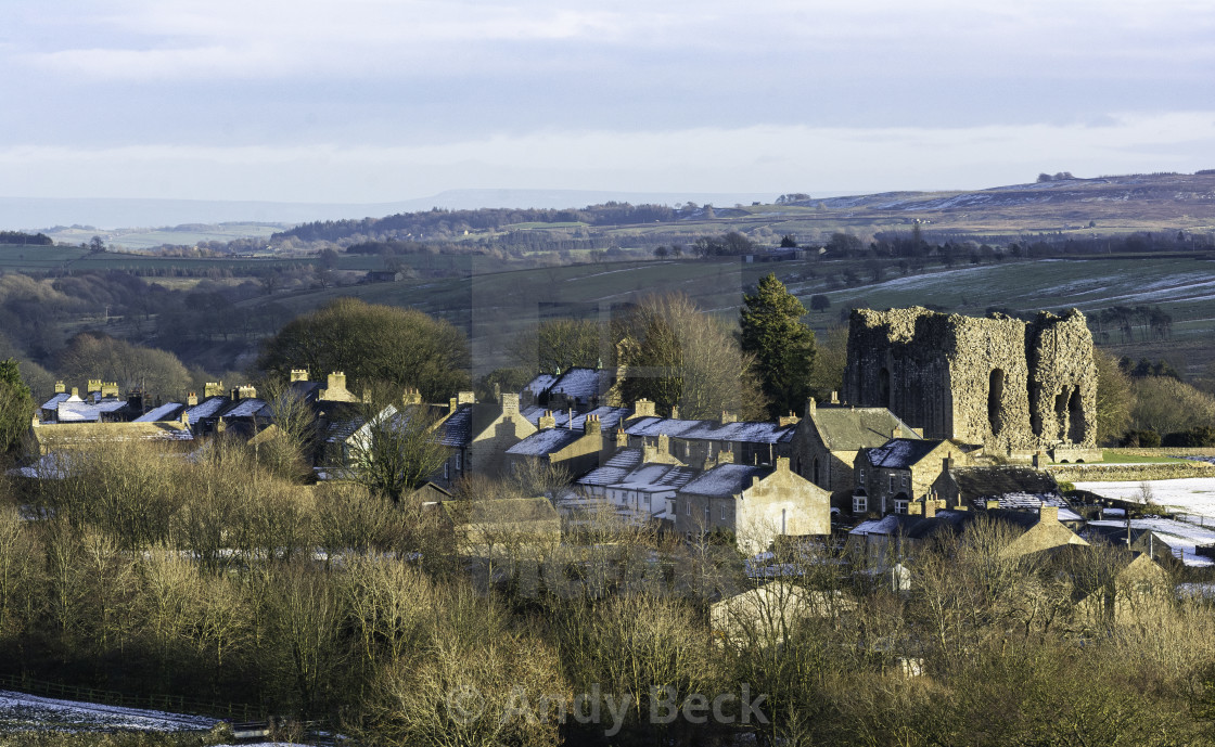"""""""Bowes village in winter"""" stock image"""