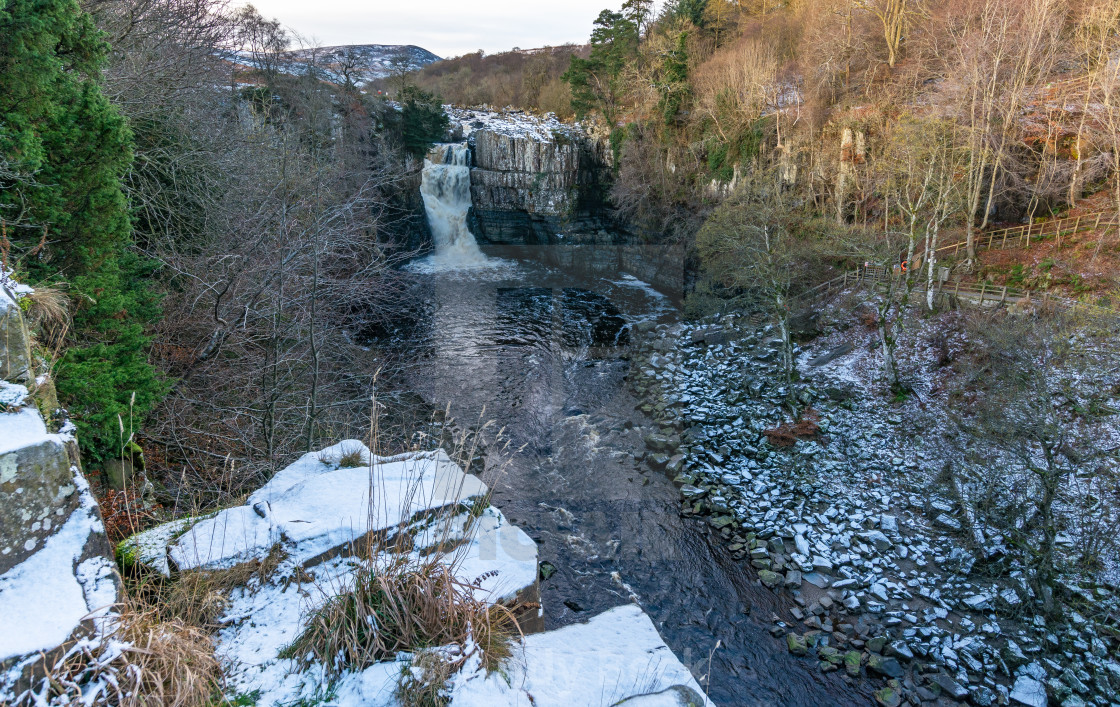 """""""High Force with dusting of snow"""" stock image"""