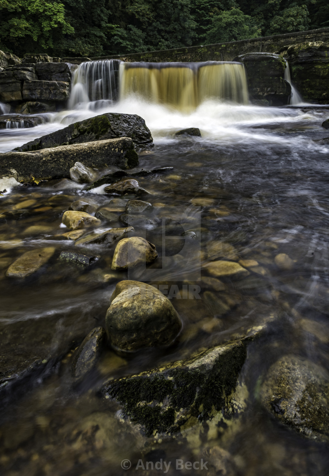 """""""Richmond Falls, River Swale, North Yorkshire"""" stock image"""