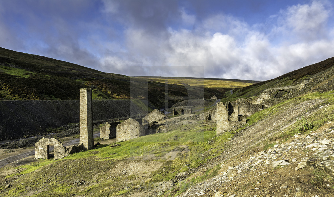 """Surrender Mill, Swaledale"" stock image"
