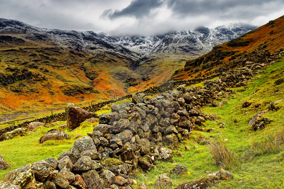 """""""Crinkle Crags"""" stock image"""