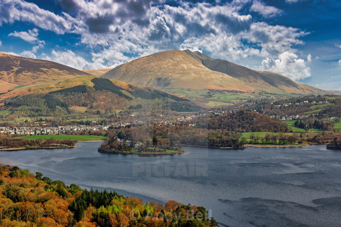 """""""Derwent Water and Blencathra"""" stock image"""