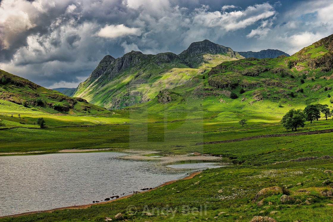 """""""The Langdale Pikes"""" stock image"""