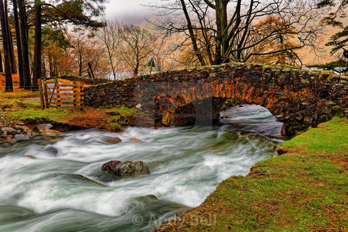 """Overbeck Bridge"" stock image"