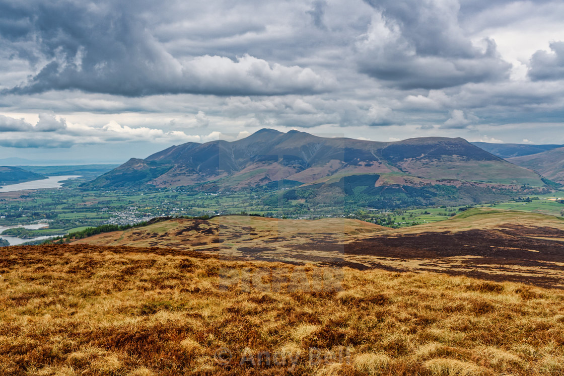 """""""Skiddaw from Bleaberry Fell"""" stock image"""