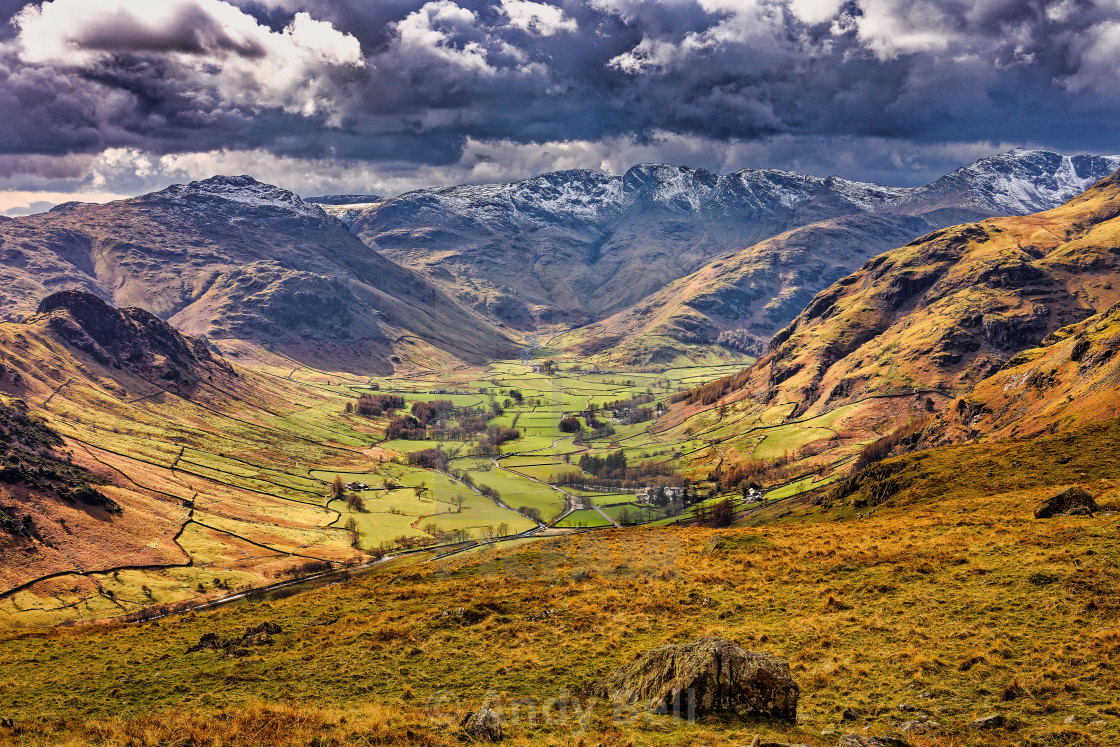 """""""The Langdale Valley"""" stock image"""