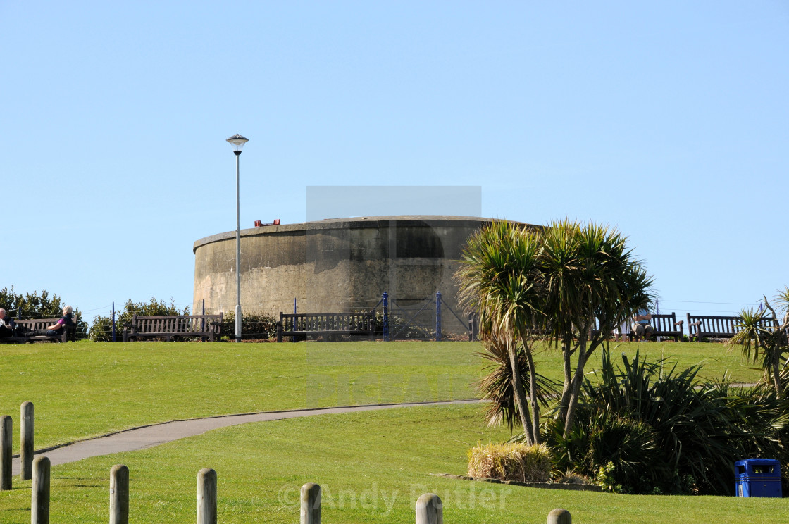 """""""Martello Tower, South Coast of Englandf. Eastbourne. Known as The Wish Tower."""" stock image"""