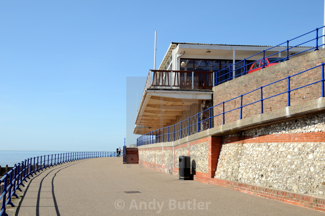 """""""The Old Wish Tower Cafe, Eastbourne, East Sussex, England, (Now Demolished)."""" stock image"""