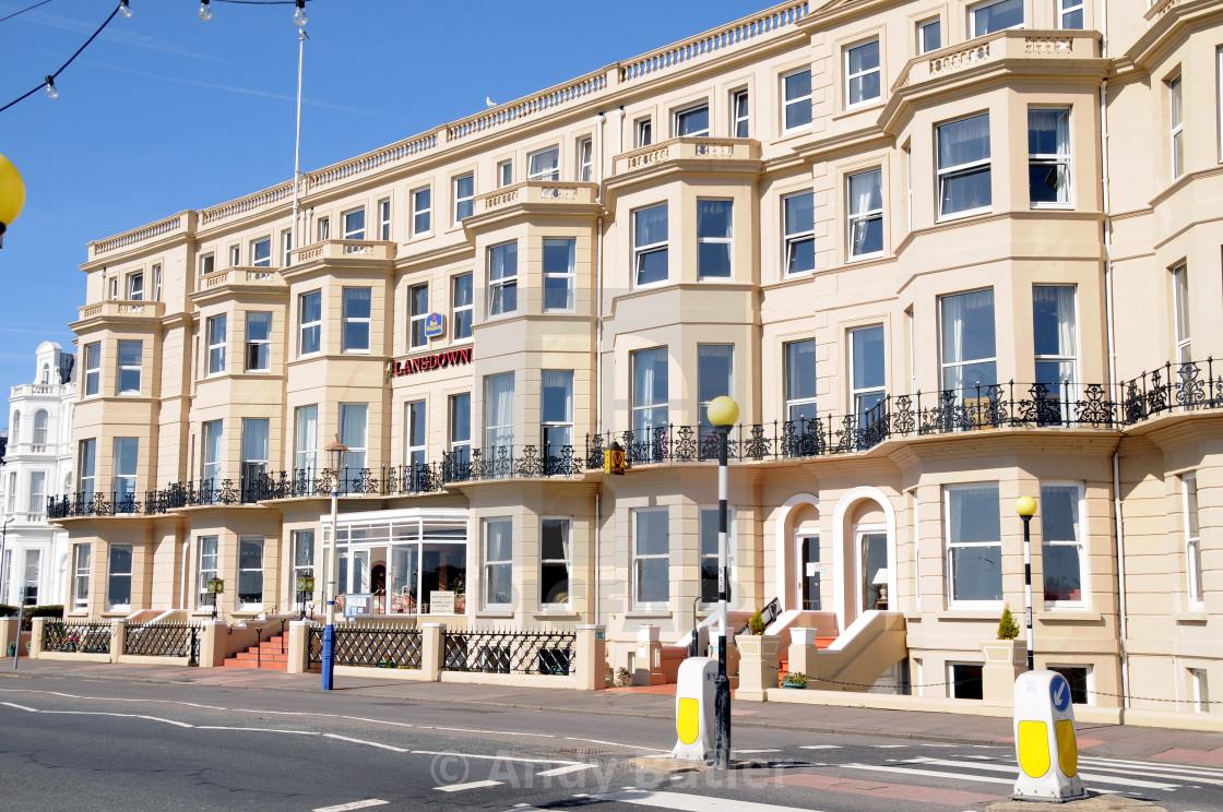 """The Lansdowne Hotel, Grand Parade, Eastbourne,England."" stock image"