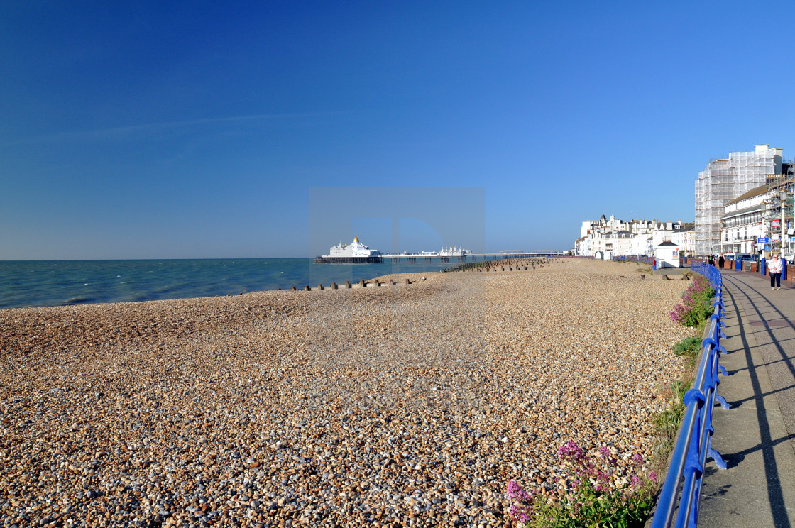 """""""seafront & pier, Eastbourne."""" stock image"""