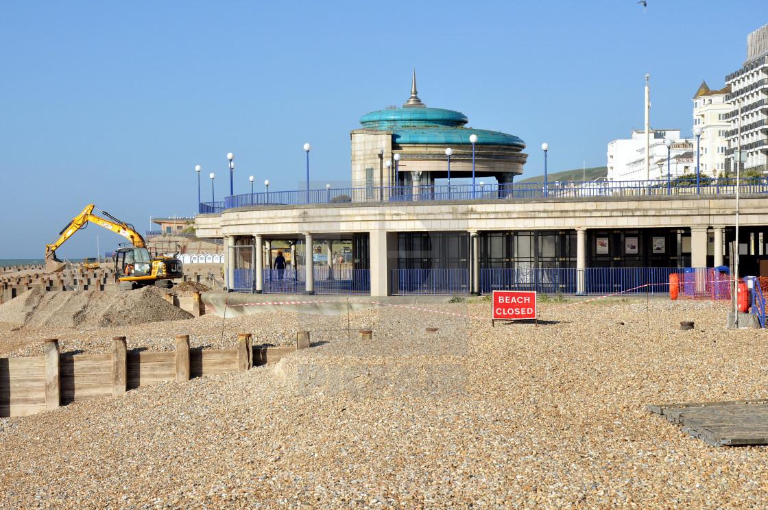 """Beach_Eastbourne"" stock image"
