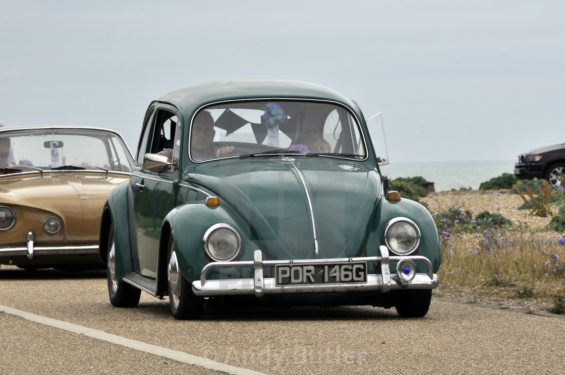 """""""1969 VW Beetle at Beach Life Festival. 2017,Eastbourne."""" stock image"""