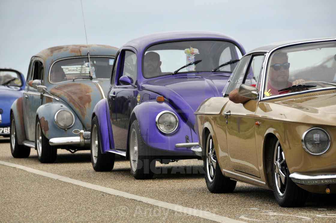 """""""VW cars at Beach Life Festival. 2017,Eastbourne."""" stock image"""