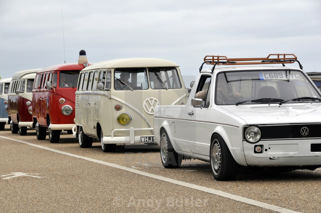 """""""VW Golf Pick Up and VW Vans"""" stock image"""