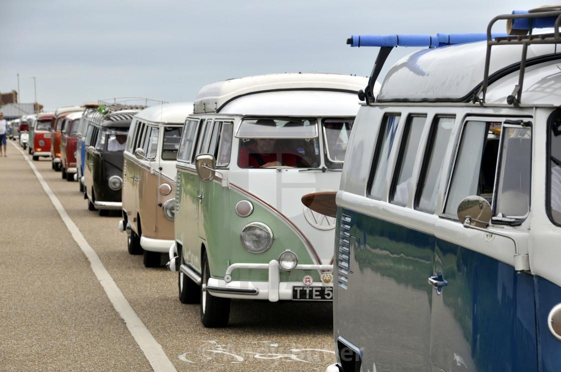 """VW camper vans at Beach Life Festival. 2017,Eastbourne."" stock image"