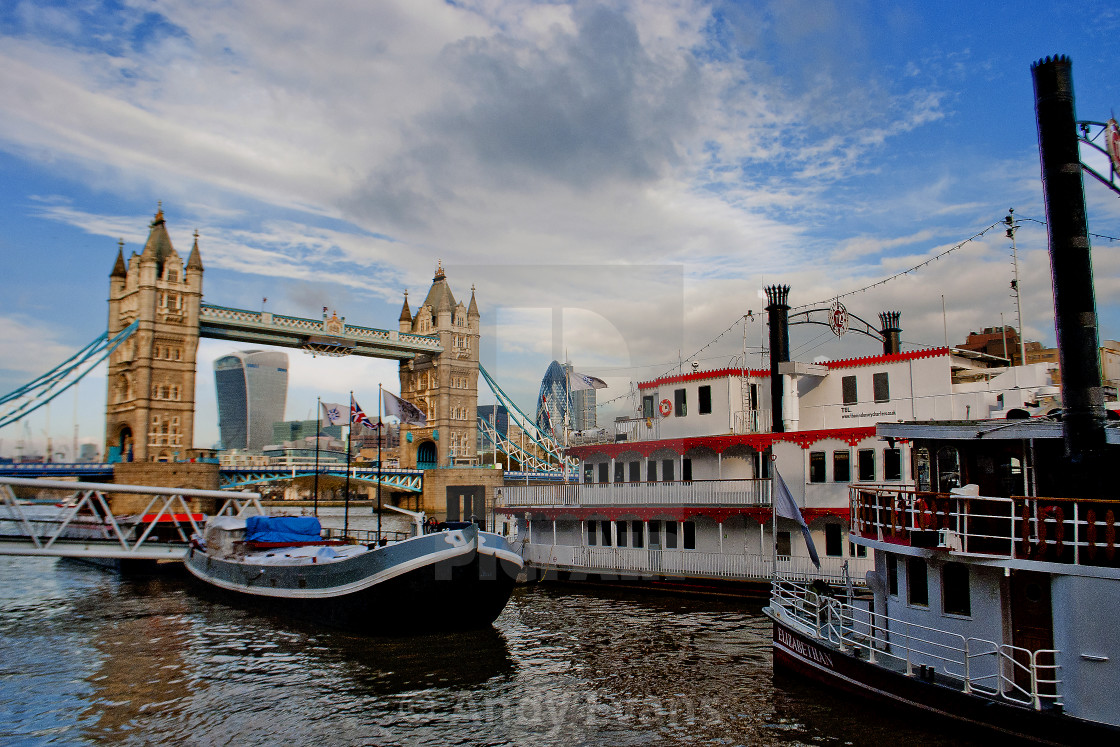"""Tower Bridge River Thames London England"" stock image"