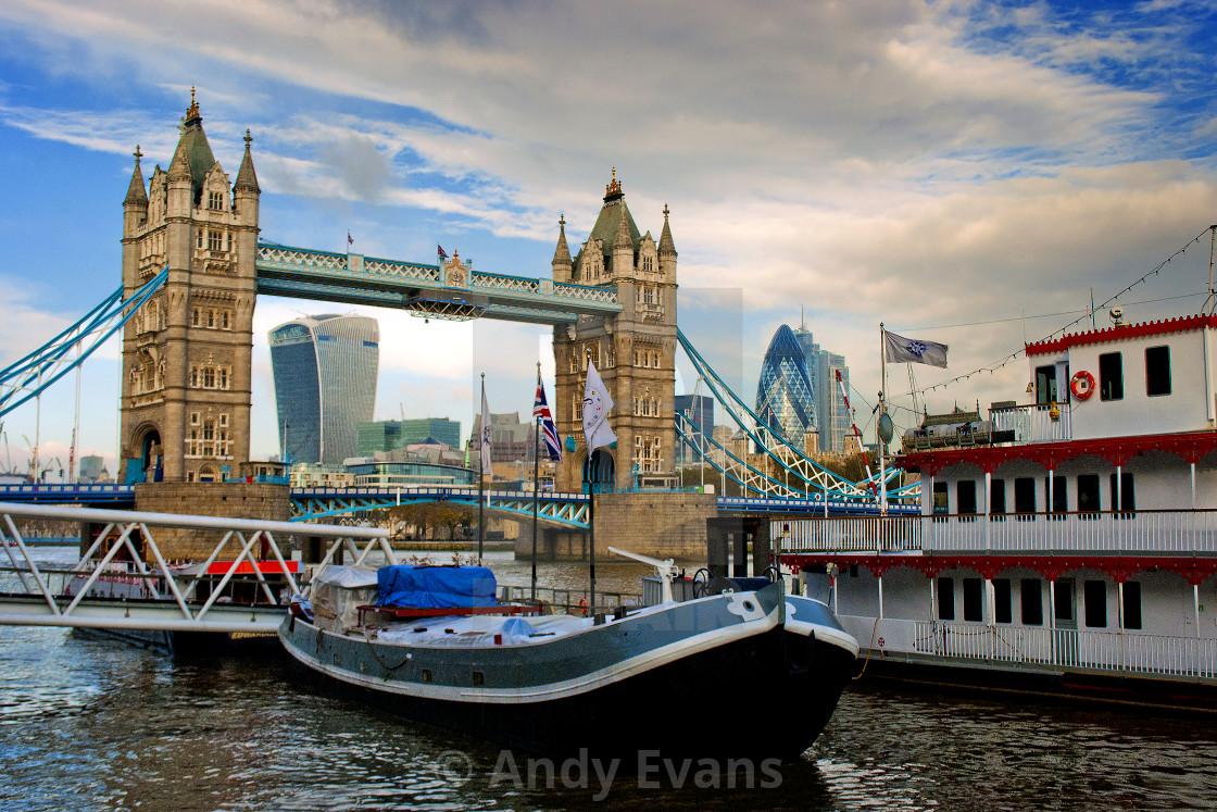 """Tower Bridge River Thames London England"" stock image"