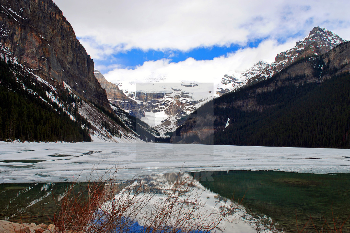 """Lake Louise Victoria Glacier Banff National Park Alberta Canada"" stock image"