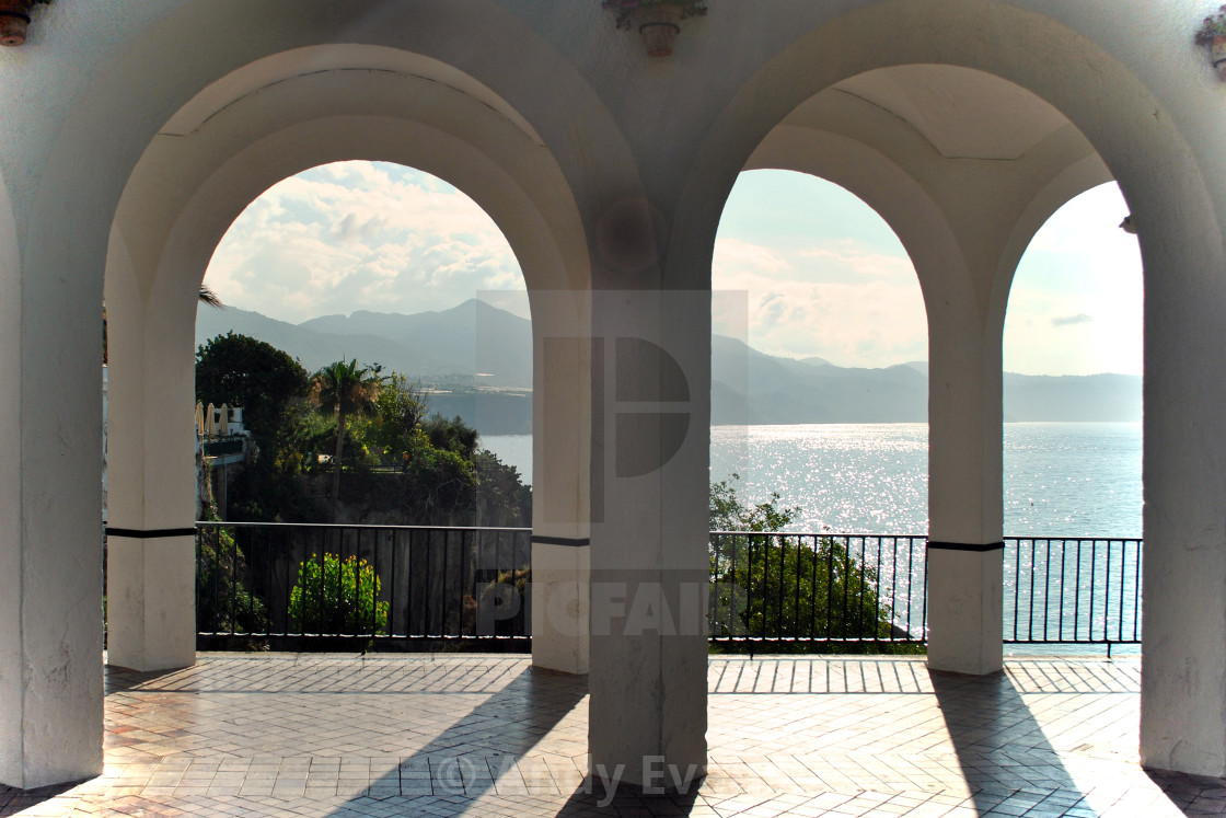 """""""Nerja, Playa Calahonda, Andalusia, Costa del Sol, Spain"""" stock image"""