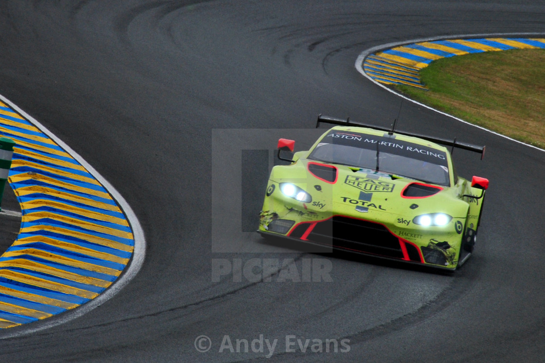 """Aston Martin Vantage AMR no95 24 Hours of Le Mans 2019"" stock image"