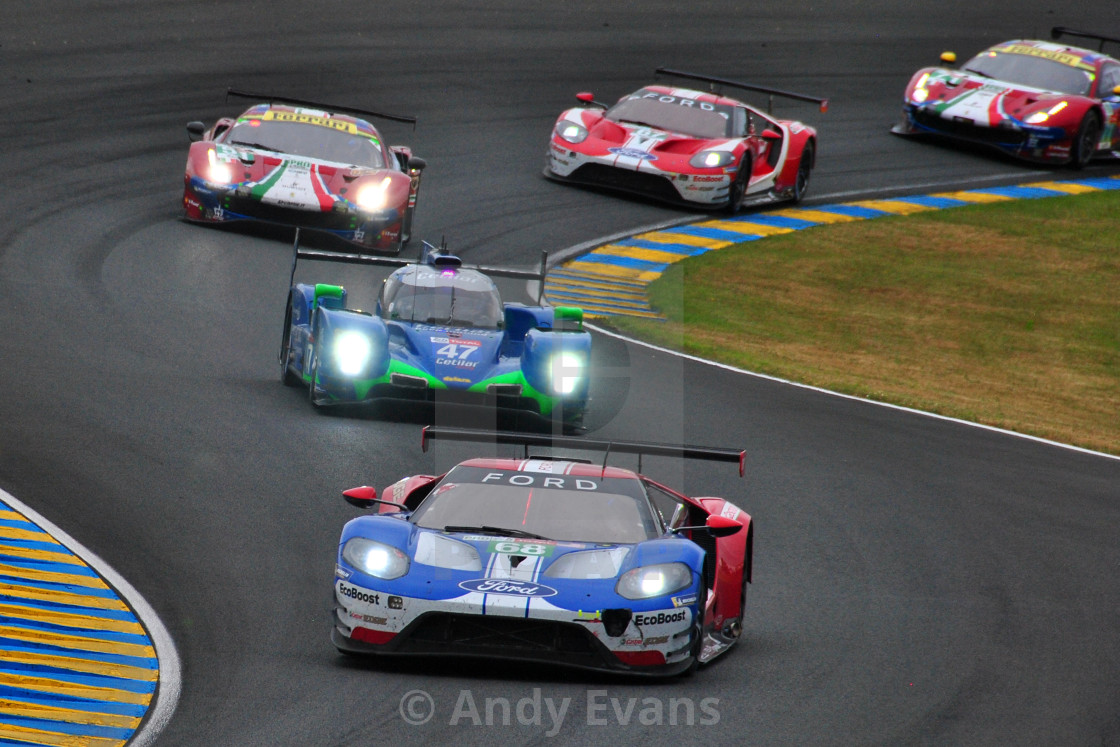 """""""Ford GT no68 24 Hours of Le Mans 2019"""" stock image"""