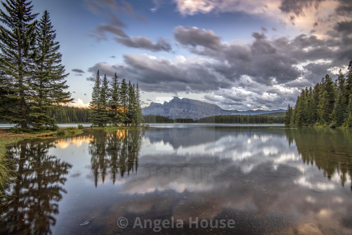 """""""Two Jack Lake"""" stock image"""