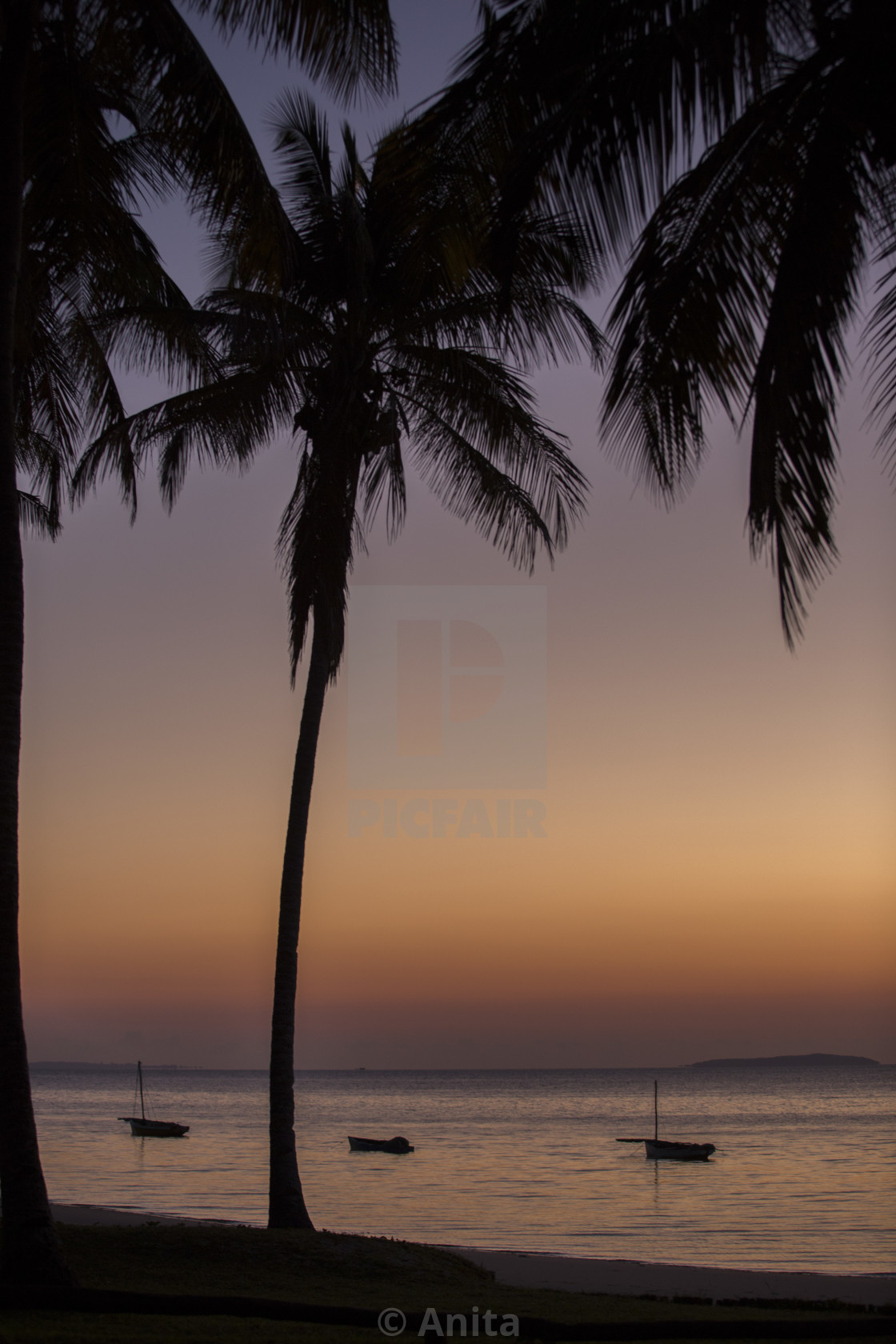 """""""Mozambique sunrise."""" stock image"""