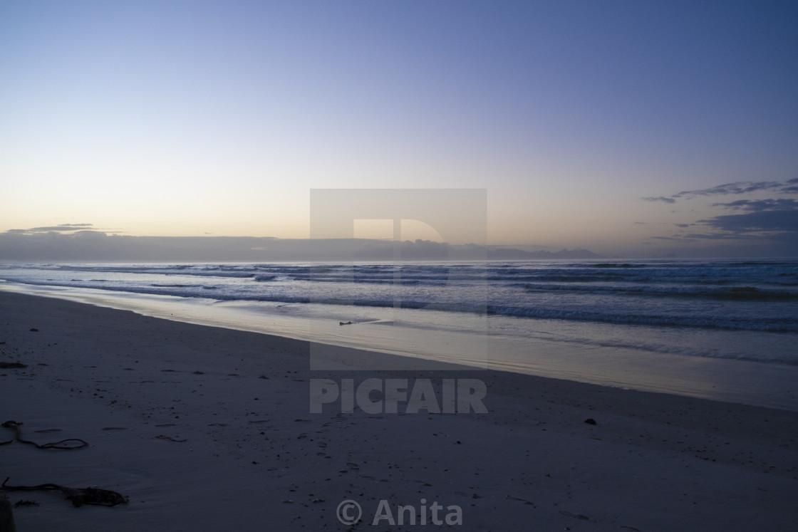 """Sea meets sky."" stock image"