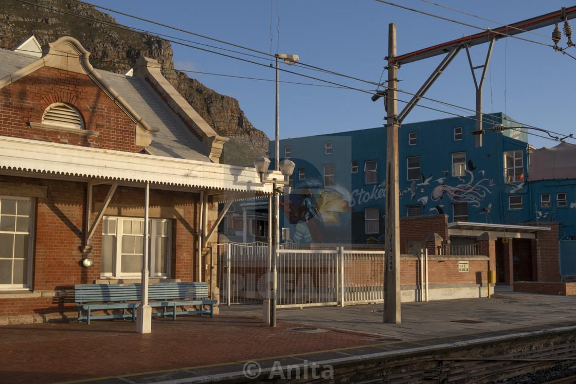 """Muizenberg train station."" stock image"