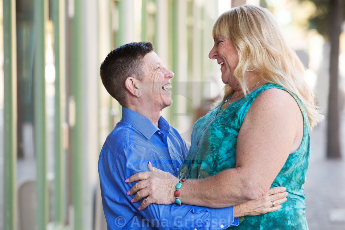 """""""Transgender couple embracing each other"""" stock image"""