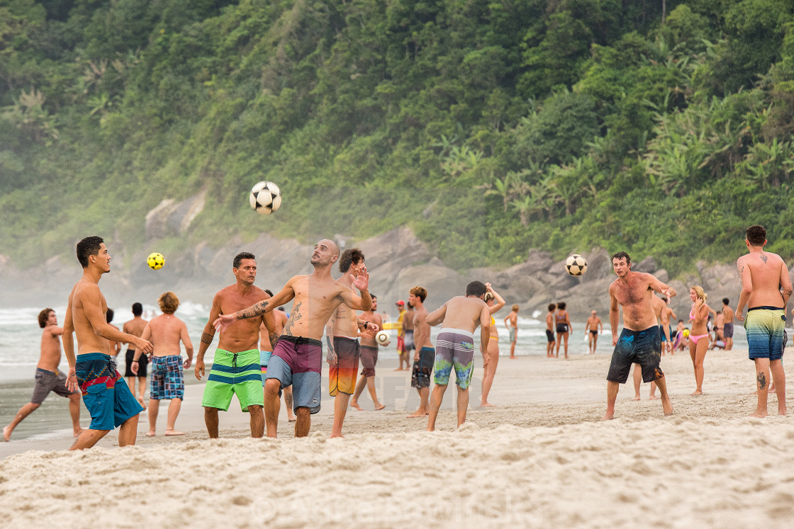 """""""Soccer on the beach"""" stock image"""