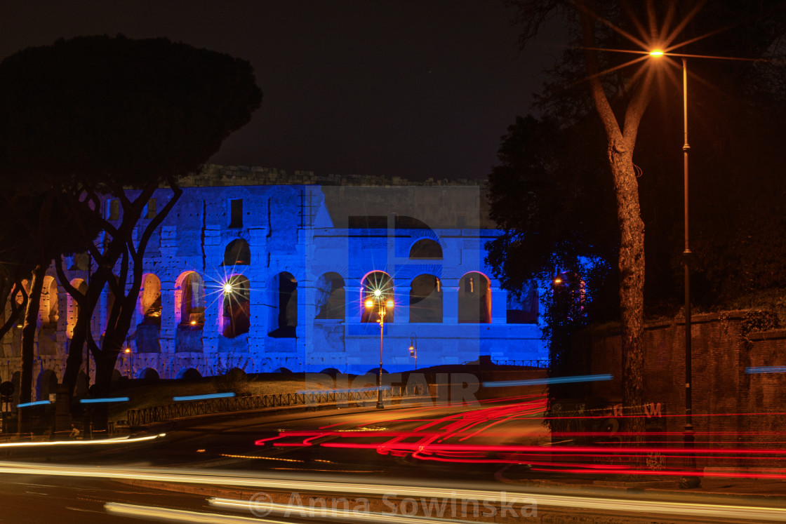 """""""Blue Colosseo"""" stock image"""