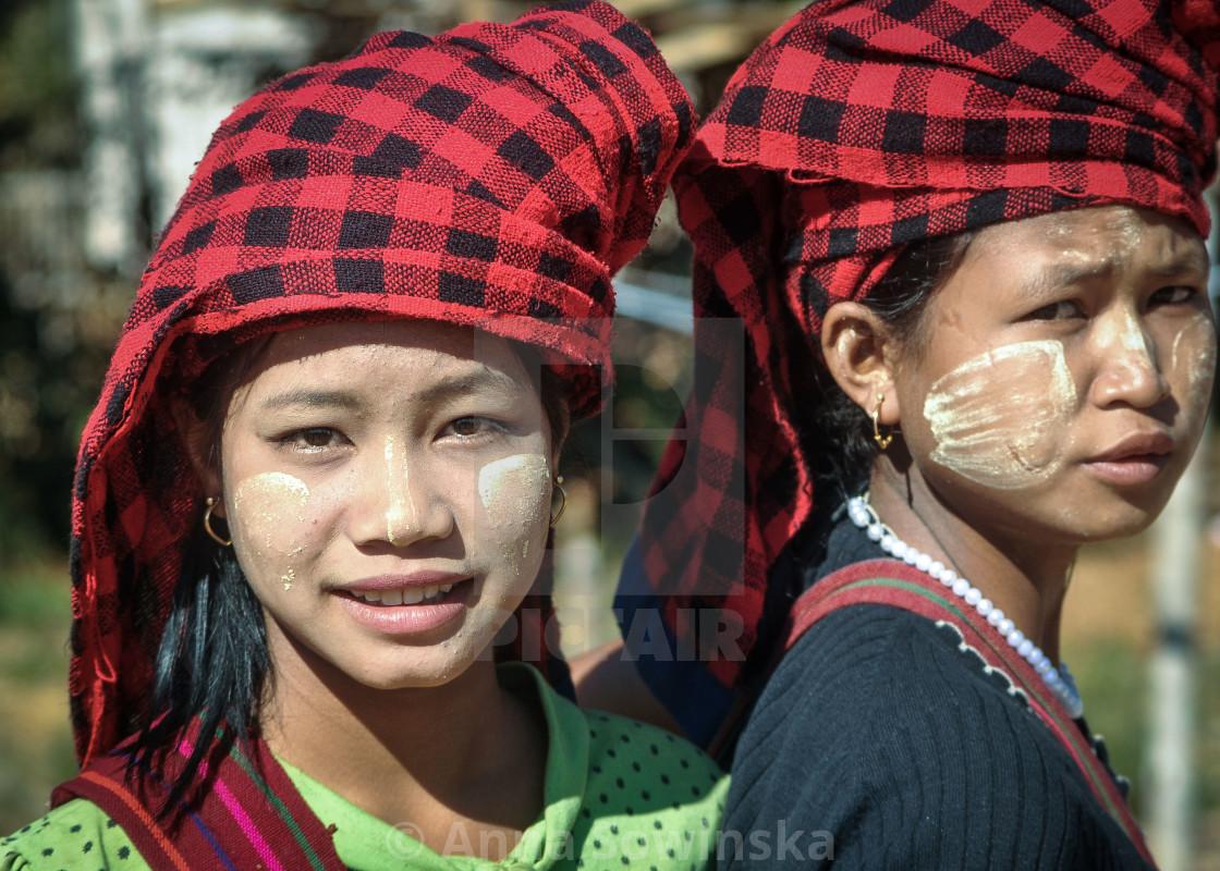 """Burmese girls"" stock image"