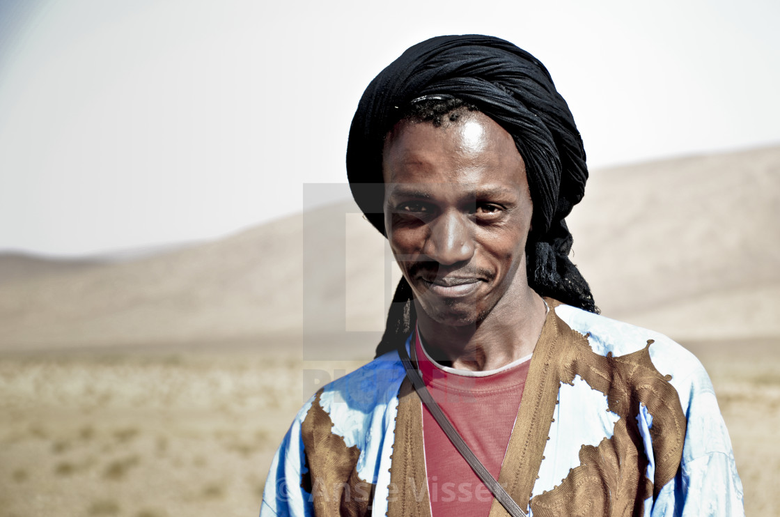 """Portrait in desert"" stock image"