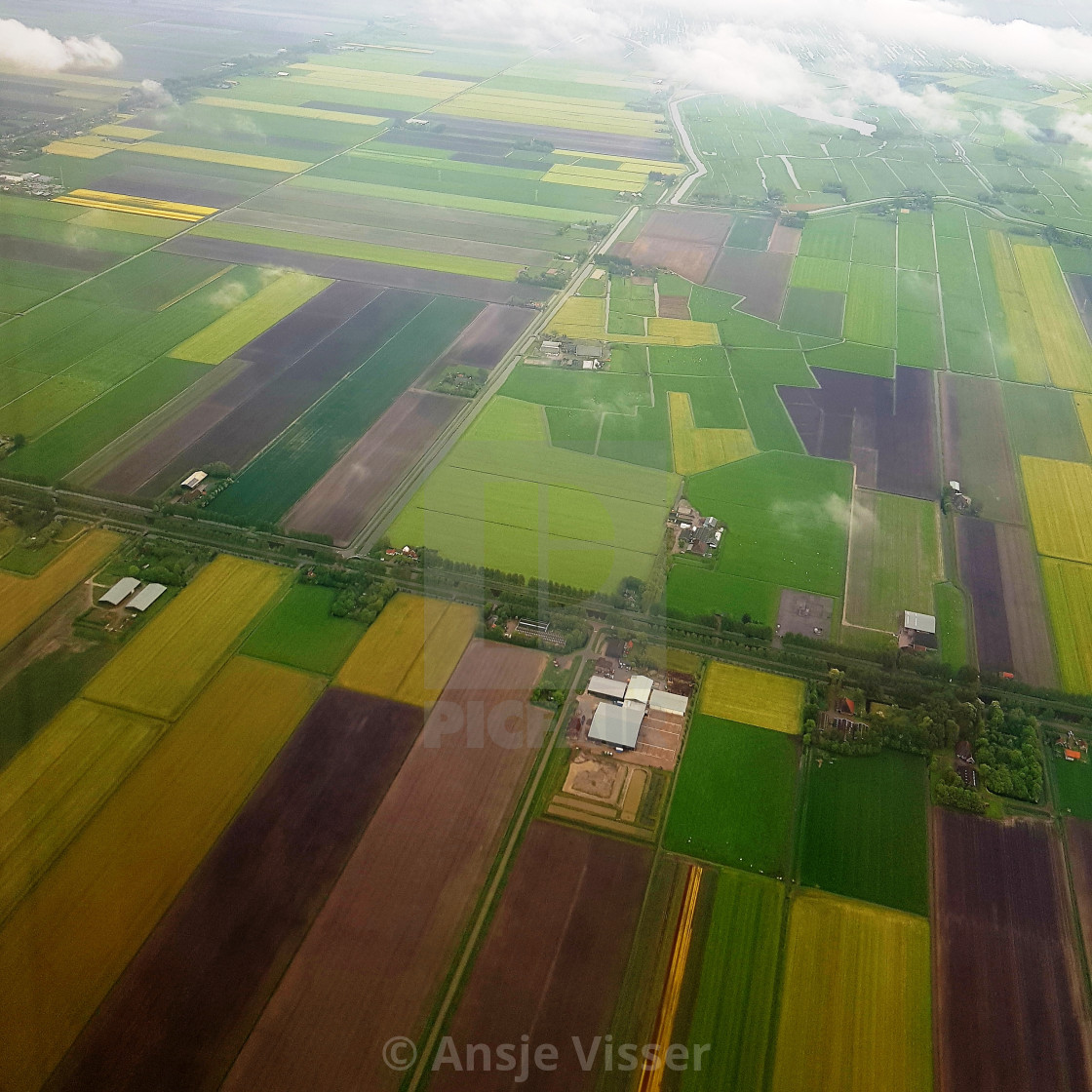"""""""Holland from above"""" stock image"""