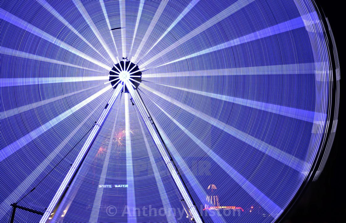 """Clacton Pier wheel"" stock image"