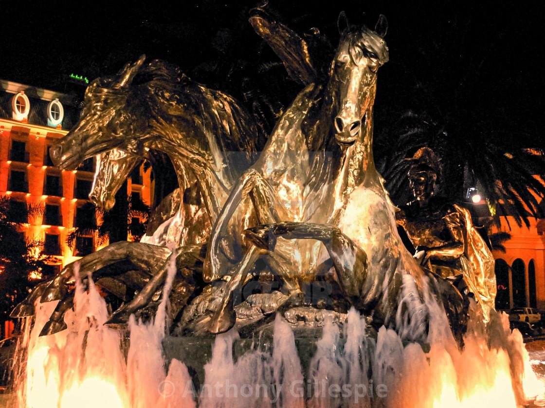 """Copper Statue Horses"" stock image"