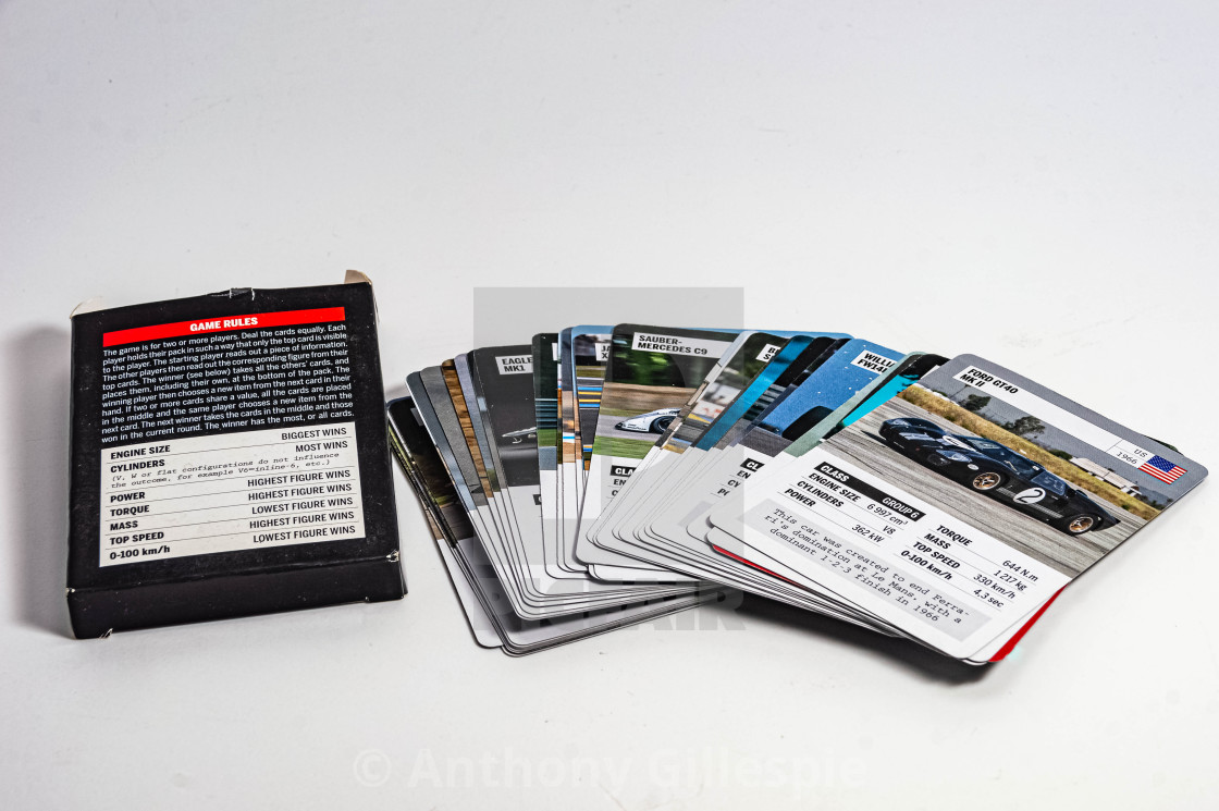 """A Deck of Cards by Car Magazine"" stock image"