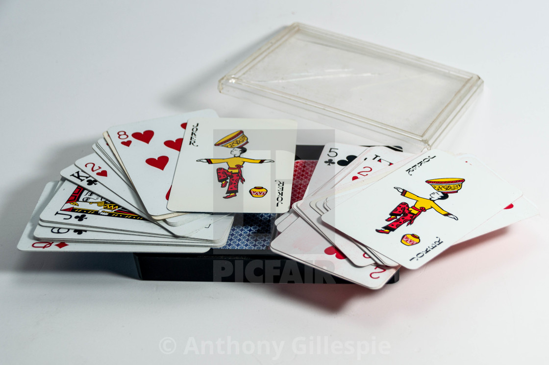 """""""Vintage Twin Playing Card Pack"""" stock image"""