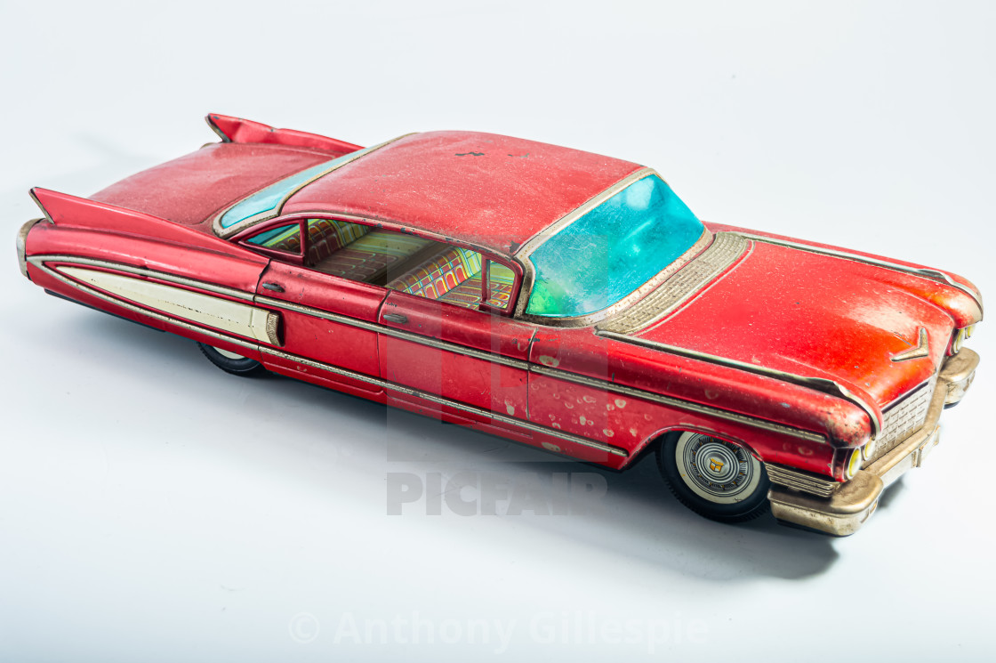 """Vintage Collector's Cadillac Tin"" stock image"