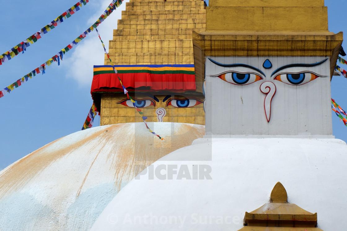 """Stupas in Kathmandu"" stock image"