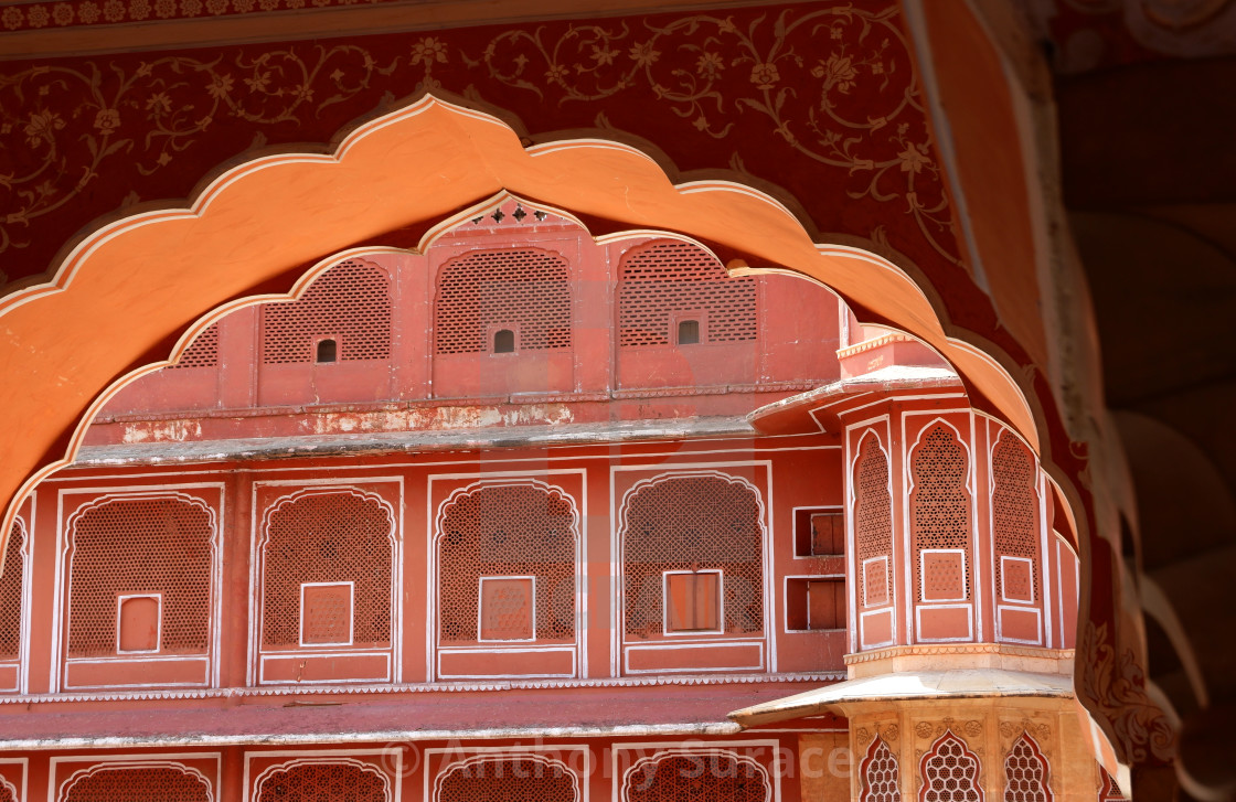 """""""Archway in Jaipur"""" stock image"""