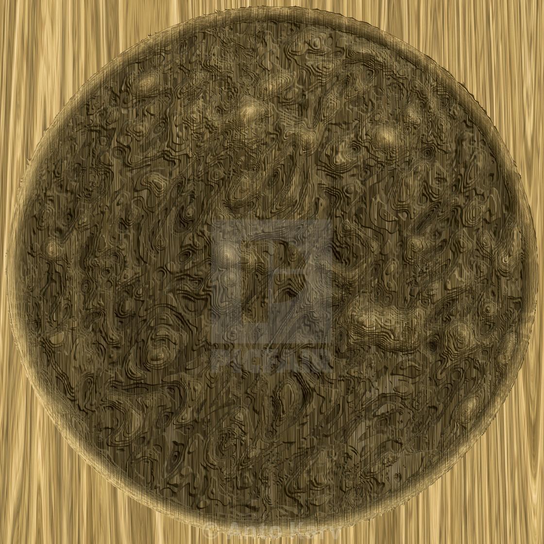 """Yellow circle illustration symbol. Abstract texture."" stock image"