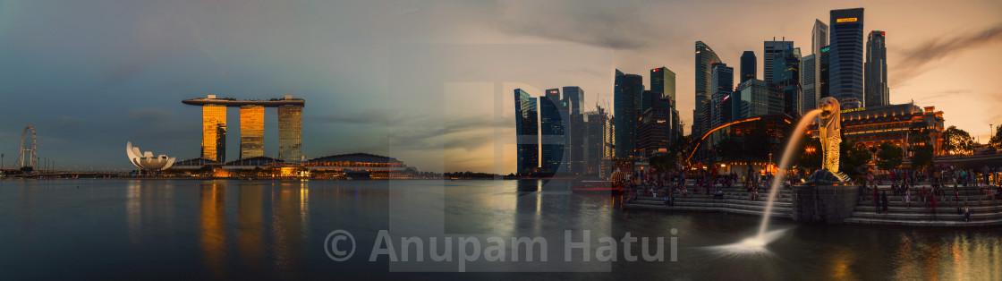 """""""Singapore City at Dusk"""" stock image"""