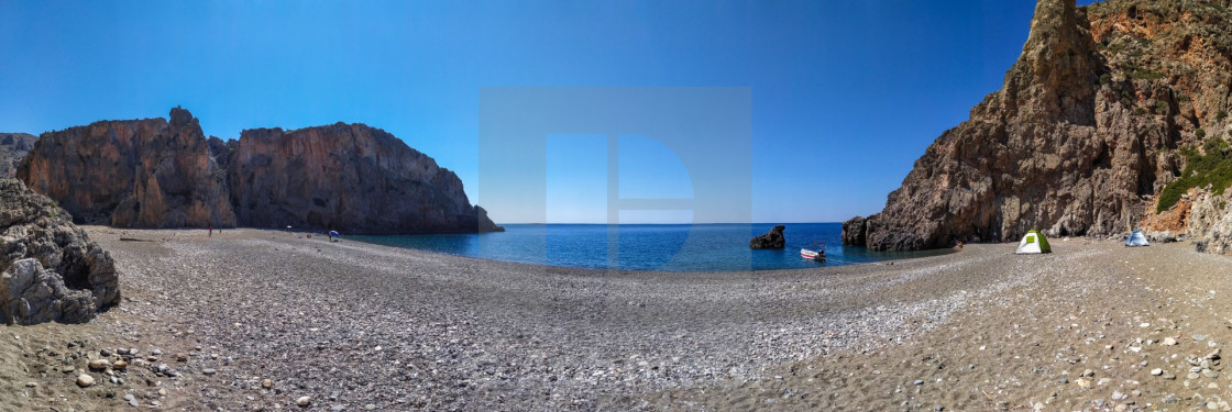 """""""The gorge of the Saints - BEACH PANORAMA"""" stock image"""