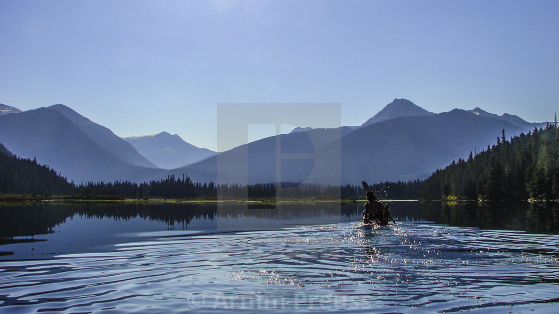"""McLeary Lake"" stock image"